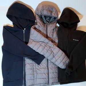 3 Warm boys jackets